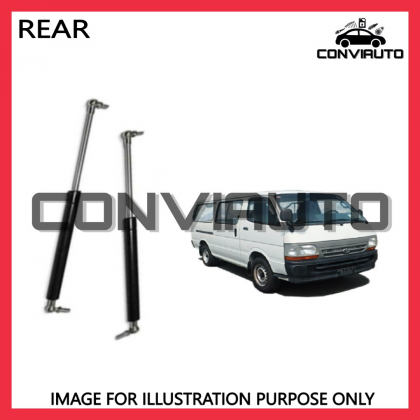 TOYOTA HIACE LH113 REAR BOOT DAMPER GAS SPRING BONNET ABSORBER LEFT AND RIGHT   CONVIAUTO